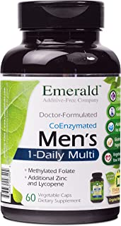 Men's 1-Daily Multi - Complete Daily Multivitamin with CoEnzymes, Extra Zinc & Lycopene - Supports Healthy Prostate, Energ...