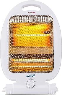 AVANT AV7553 - Estufa Eléctrica De Cuarzo Mini con 2 Tubos. 800w con 2 Niveles De Potencia: 400w - 800w. Interruptor Antiv...