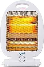 AVANT AV7553 - Estufa Eléctrica De Cuarzo Mini con 2 Tubos. 800w con 2 Niveles De Potencia: 400w - 800w. Interruptor Antivuelco, Protección Térmica. Color Blanco