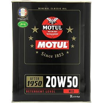 MOTUL(モチュール) CLASSIC OIL (クラッシック オイル) 20W50 ミネラルエンジンオイル 2L[正規品] 11302631