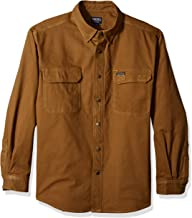 Smith's Workwear Men's Flannel Lined Canvas Work Shirt