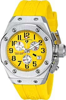 Women's 10535-07 Trimix Diver Chronograph Yellow Dial Yellow Silicone Watch