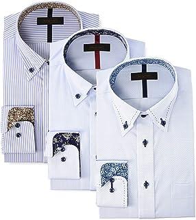 [スティングロード] デザインワイシャツ 3枚セット ボタンダウン 形態安定 長袖 D484MR-3P メンズ