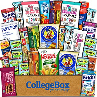 CollegeBox Healthy Care Package (30 Count) Natural Food Bars Nuts Fruit Health Nutritious Snacks Variety Gift Box Pack Assortment Basket Bundle Mix Sampler College Students Final Exams Office Summer