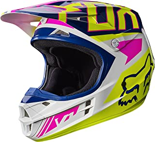 Fox Racing Falcon Adult V1 Motocross Motorcycle Helmets - Navy/White / X-Large