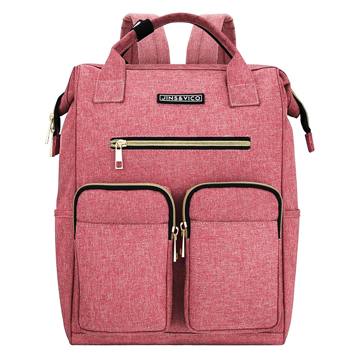 Laptop Backpack for Women, Lightweight Womens Travel Backpack Wide Open Backpack Large Capacity for Girls Travel School Multipurpose Use Daily Carry Backpack (Pink)