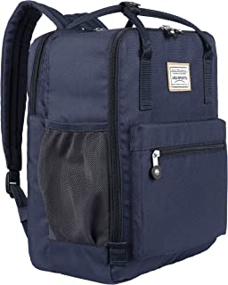 School Laptop Backpack for Teen Girls and Boys, Travel Daypack, Bookbag with 14-Inch Laptop Compartment (Navy Blue)