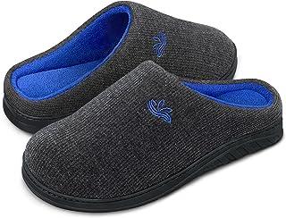 BERGMAN KELLY Men's Slippers, Two-Tone Cotton/Spandex Non-Slip Indoor / Outdoor Men's House Shoes (Ranger Collection)