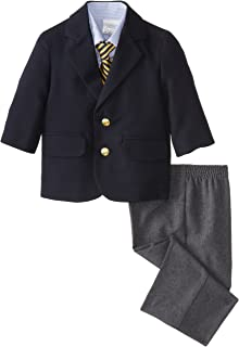 Nautica Baby Boys 4-Piece Suit Set with Dress Shirt, Jacket, Pants, and Tie