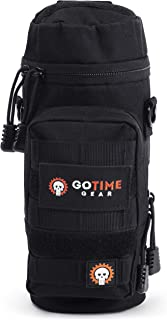 Go Time Gear Exo-Tek H2O MOLLE Water Bottle Pouch Hydration Carrier - Use as MOLLE Water Bottle Holder, Tactical Water Pou...