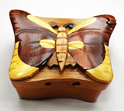 2a6485a1e Wood puzzle Jewelry Box - Butterfly