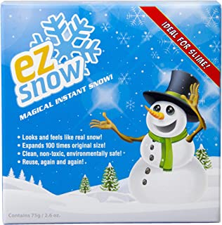 Magical Instant Snow, Looks and feels like real snow, Expands 100 times original size, Clean, non-toxic, environmentally s...