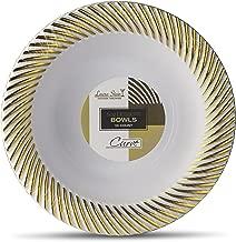 Laura Stein Designer Tableware Curve Series Hot Stamp Plastic Disposable Plates 5 Ounce DESSERT BOWLS CRV-B5G