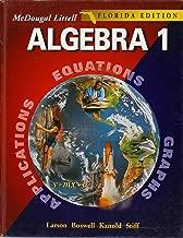 Algebra 1, Grades 9-12: Florida Edition (McDougal Littell High School Math)