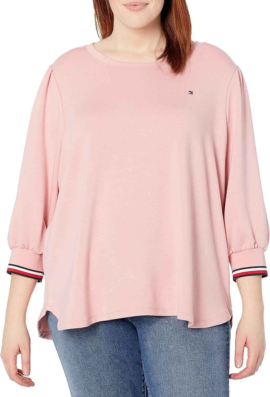 Tommy Hilfiger Women's Plus Size Long Sleeve Global Cuff Shirt