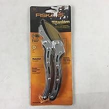 Fiskars 6-3/4 in. Titanium Anvil Ratchet Hand Pruner
