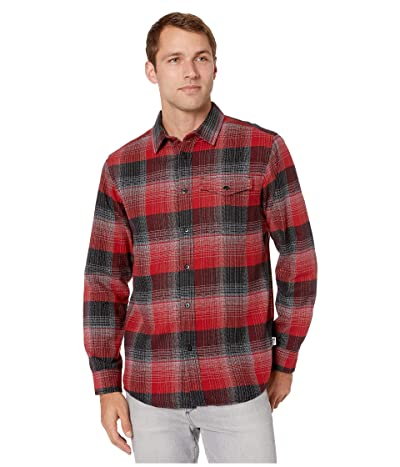 The North Face Long Sleeve Stayside Chamois Shirt (Cardinal Red Stayin Plaid) Men