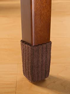 NancyProtectz Small/Brown, Patented with Rubberized Grips/Chair Leg Hardwood Floor..