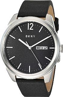 DKNY Gansevoort - Reloj de cuarzo para hombre (acero inoxidable, correa de cuero), color negro, 22 (modelo: NY1604)