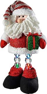 WeRChristmas 45 cm Pre-Lit diseño de Papá Noel con luz LED los Bajos de árbol de Navidad