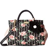 Luv Betsey - Zadie Cotton PVC Mix Mid Size Satchel