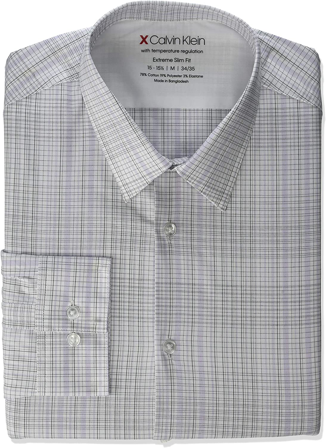 Year-end gift Calvin Klein Men's Dress Shirt C Super Special SALE held Slim Stretch Fit-Thermal Xtreme
