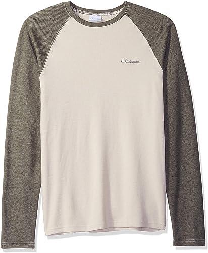 Columbia Hommes's Ketbague Raglan manche longue Shirt, Stone, Peatmoss, XXL