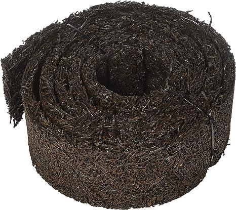 Plow & hearth 55632 recycled rubber permanent garden mulch border, 120 l x 4. 50 w, black
