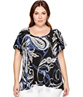 Karen Kane Plus - Plus Size Flutter Sleeve Cold Shoulder Top