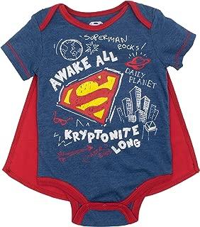 Justice League Baby Boys' Bodysuit and Cape Set- Batman, Superman & The Flash