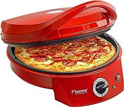 Bestron Four à pizza avec gril, Viva Italia, Chaleur supérieure et inférieure, Jusqu'à max. 180°C, 1800 W, Rouge