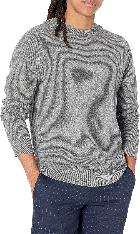 Ranking TOP19 Low price Amazon Brand - Goodthreads Men's Crew Ottoman Soft Stitch Cotton