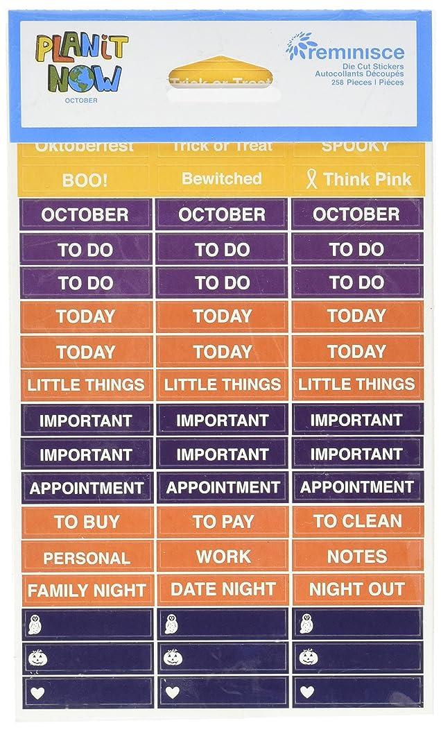 Reminisce October 4 x 6 Calendar Sticker 4