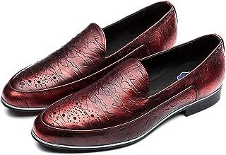 OPP Men's Brogue & Slip On,Low Heel & Plain Toe Dress Loafers Shoes