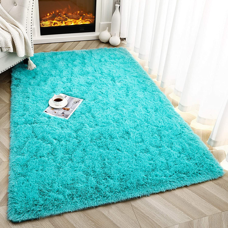 Latest item Foxmas Ultra Soft Fluffy San Jose Mall Area Rugs Kids Room Plush S for Bedroom