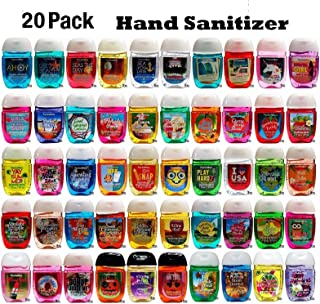 Bath and Body Works Anti-Bacterial Hand Gel 20-Pack PocketBac Sanitizers, Assorted..