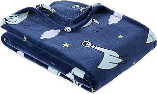 Berkshire Blanket VelvetLoft Plush Blanket Throw (50'' x 60'', Napping Pigeon)