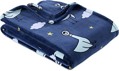 "Berkshire Blanket, Mo Willems Don't Let The Pigeon Stay Up Late! VelvetLoft Throw, 50"" x 70"", Napping Pigeon"