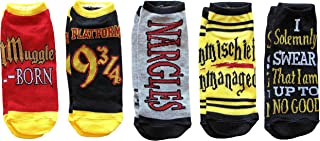 Harry Potter Mischief Managed Marauders Map 5 Pack Ankle Socks (Adult, Muggle Born)