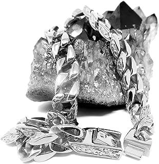 سلسلة قلادة مجوهرات هوليوود [سلسلة ربط كوبية 14 مم] حتى 20 مرة أكثر من 24 قيراط من السلاسل الذهبية الأخرى - قلادات متينة ل...