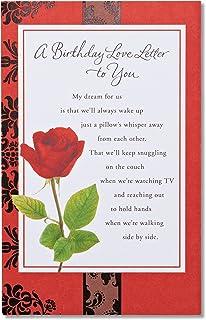 American Greetings Romantic Birthday Card (Rose)
