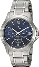 Titan Workwear Men's Chronograph Watch | Quartz, Water Resistant, Stainless Steel Band