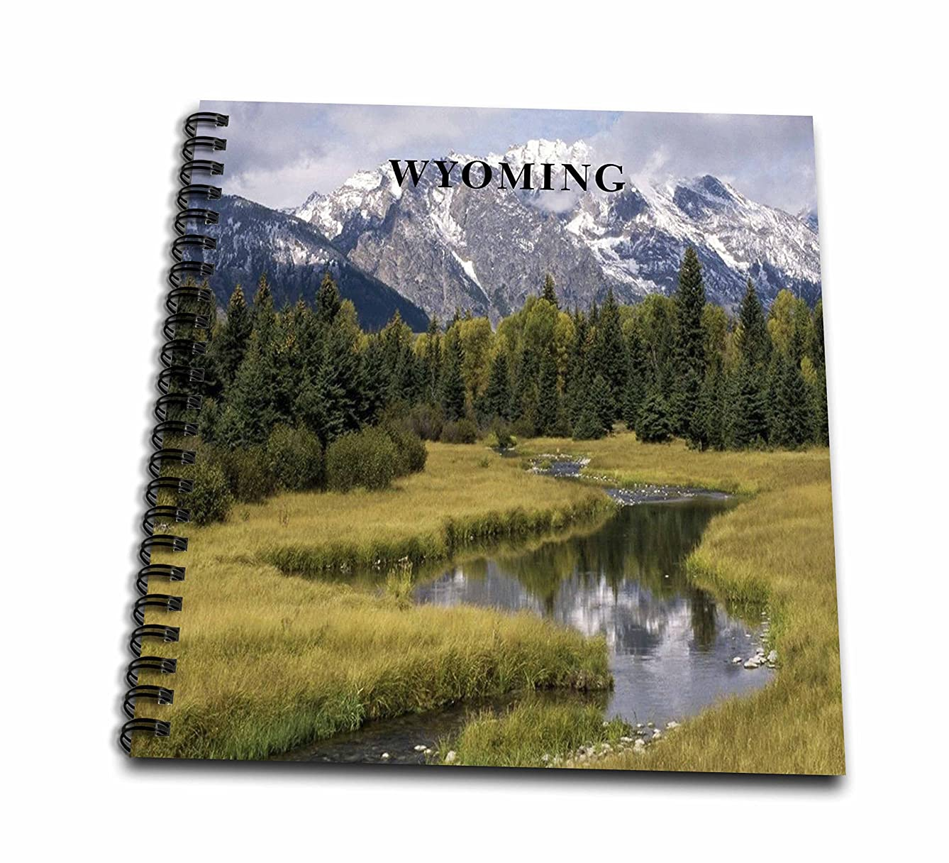 3dRose db_80653_1 The Grand Tetons in Wyoming-Drawing Book, 8 by 8-Inch