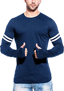 Maniac Men's Cotton Full Sleeves Printed T-Shirt