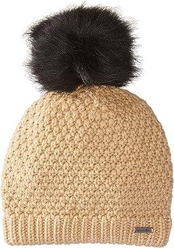 SOREL - Cozy Knit Faux Fur Pom Beanie