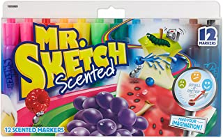 Mr. Sketch Scented Markers, Chisel Tip, Assorted Colors,...