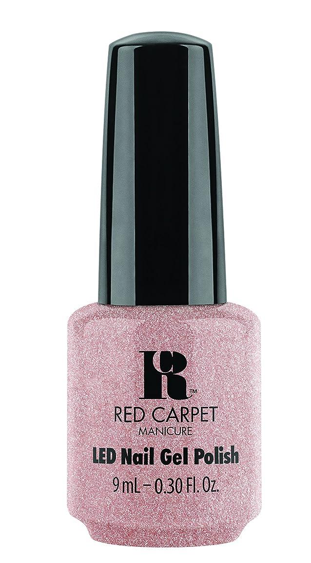 消防士スライム独創的Red Carpet Manicure - LED Nail Gel Polish - Shimmery Silouette - 0.3oz / 9ml