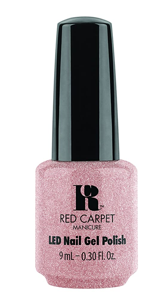 冷ややかな写真の複雑なRed Carpet Manicure - LED Nail Gel Polish - Shimmery Silouette - 0.3oz / 9ml