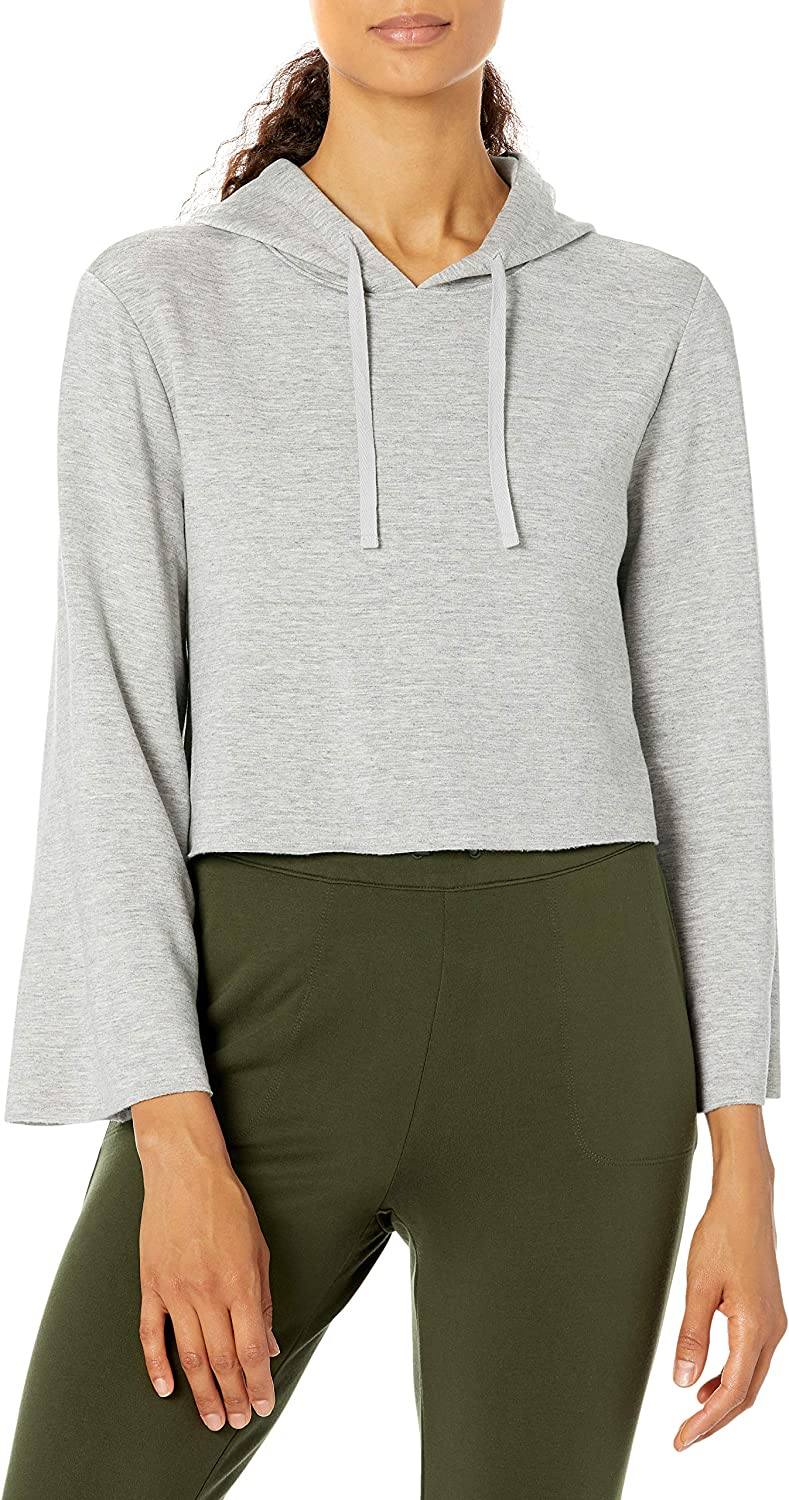 Amazon Brand - Core 10 Women's Cloud Soft Cropped Bell Sleeve Relaxed Fit Yoga Sweatshirt
