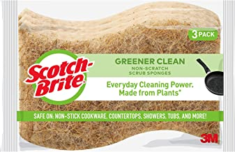 Scotch-Brite Greener Clean Non-Scratch Scrub Sponges, 3 Scrub Sponges